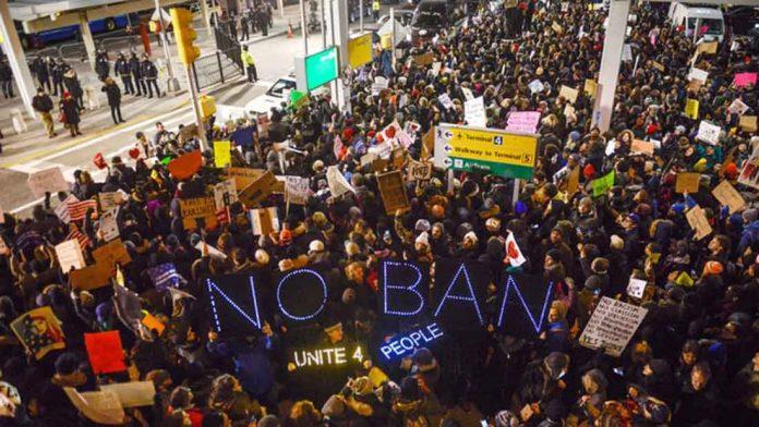 manifestacion musulmanes prohibicion trump