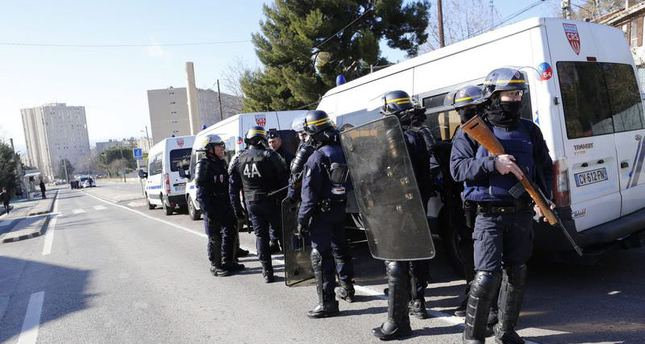 Police intervention in Marseille