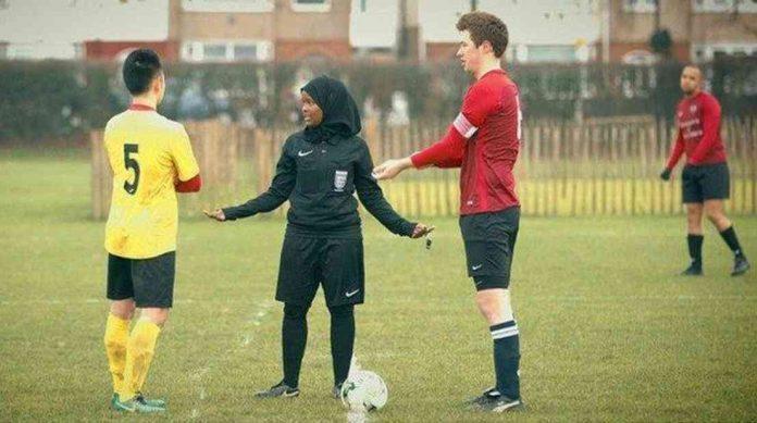 primera mujer musulmana arbitro