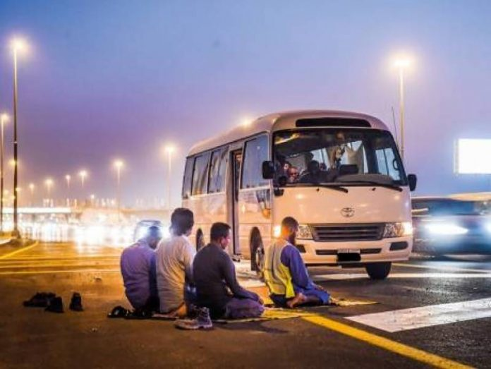rezar transporte publico