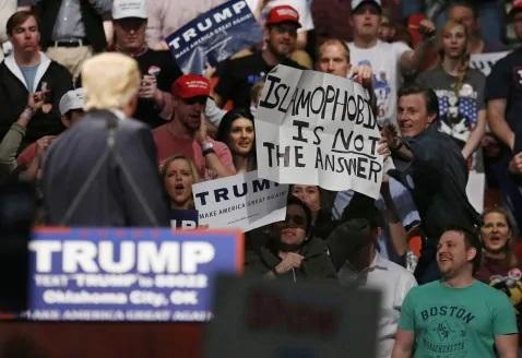 no islamofobia trump
