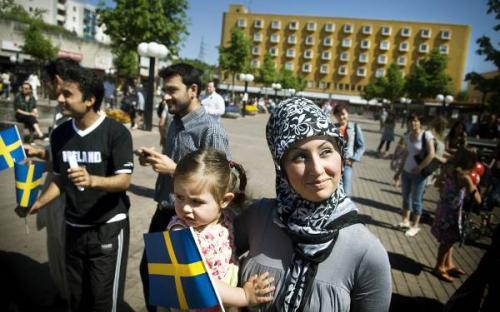Resultado de imagen de inmigrantes suecia