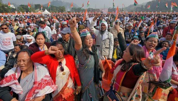 Mujeres musulmanas de la India encabezan las protestas contra la ley de ciudadanía