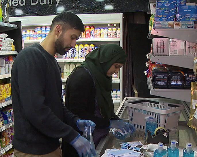 Pareja musulmana de Escocia