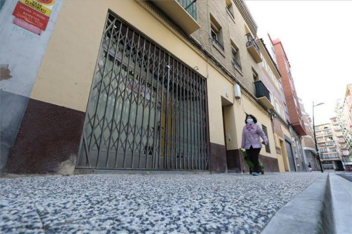 Mezquita de Zaragoza cerrada