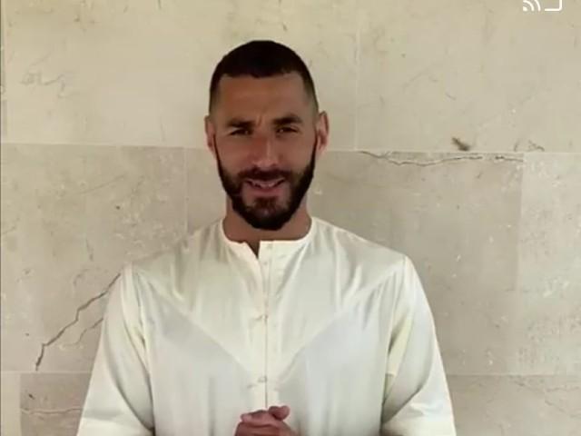 El jugador del Real Madrid Karim Benzema felicita a los musulmanes por el Eid
