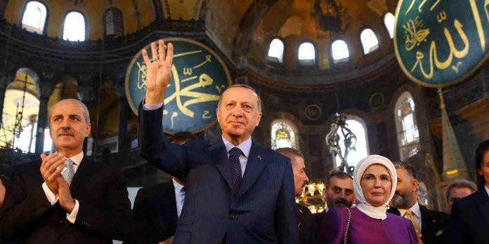 Erdogan en Hagia Sophia