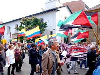 Musulmanes colombianos contra la anexión israelí de Cisjordania