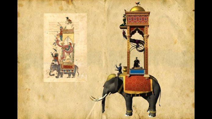 Reloj en forma de elefante creado por Al Yazari