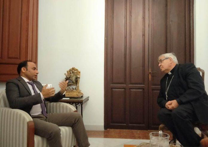 El presidente de la FEME y el arzobispo de Granada
