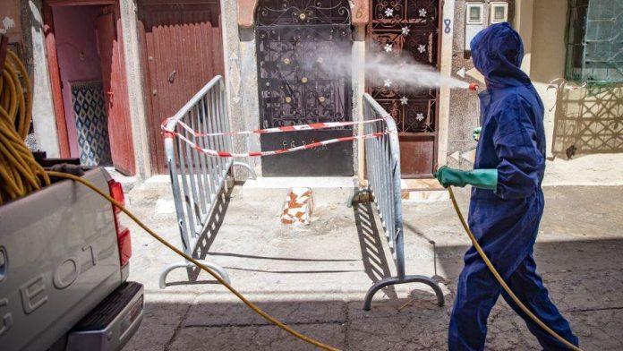 Tareas de desinfección en Marruecos