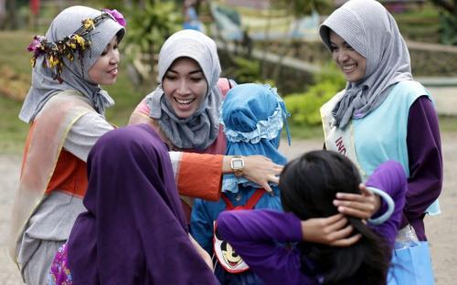 Mujeres musulmanas de Indonesia