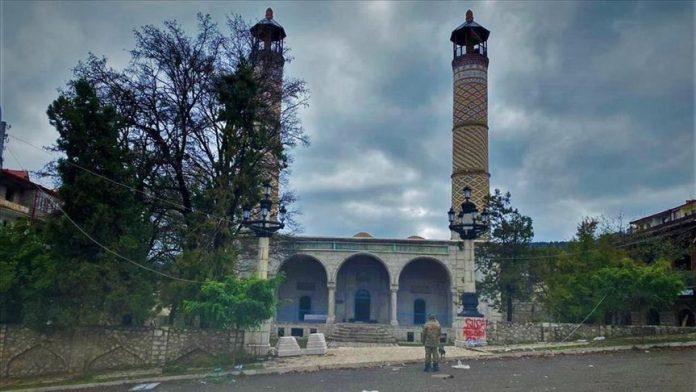Una mezquita de Shusha