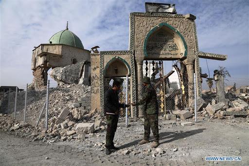 Mezquita Al Nuri destruida en Mosul