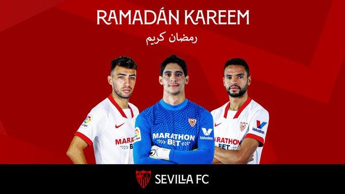 El Sevilla FC felicita el Ramadán a sus jugadores musulmanes