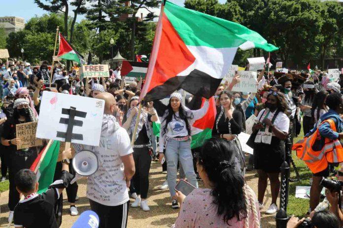 Manifestación a favor de Palestina en EEUU