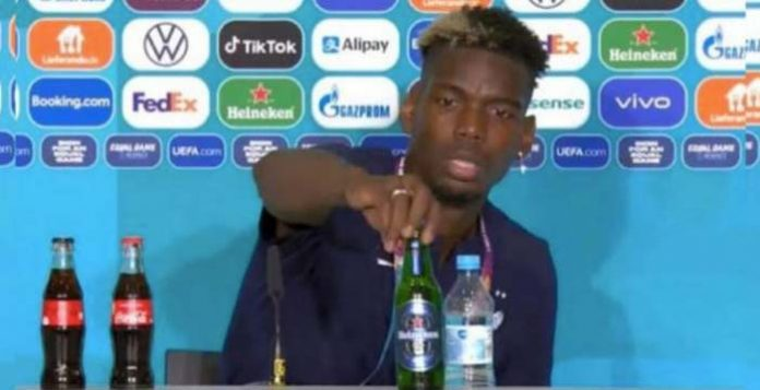 Euro 2021: Paul Pogba no quiere ser filmado con una cerveza ni Cristiano Ronaldo con una Coca-Cola