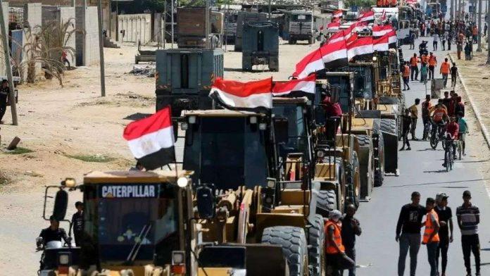 Tractores egipcios en Gaza