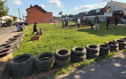 Nuevo campo de fútbol en un antiguo vertedero en Birmingham