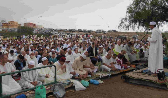 Rezo de la oración del Eid el Adha en Melilla