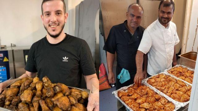 Musulmanes británicos ayudan a los refugiados afganos