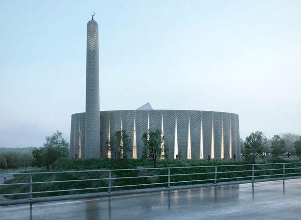 Proyecto de una mezquita con minarete en forma de chimenea gana un concurso internacional