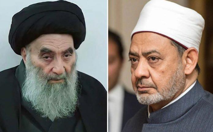 El gran imam de Al Azhar, Sheij Ahmed At Tayyeb, se reunirá con el gran ayatolá Alí Al Sistani